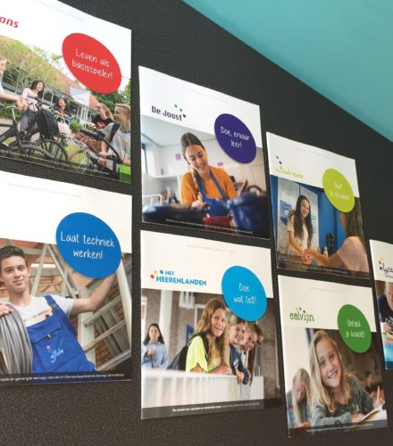 Brochures zeven scholen Stichting CVO-AV