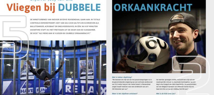 'Vliegen bij dubbele orkaankracht', artikel magazine Thomas