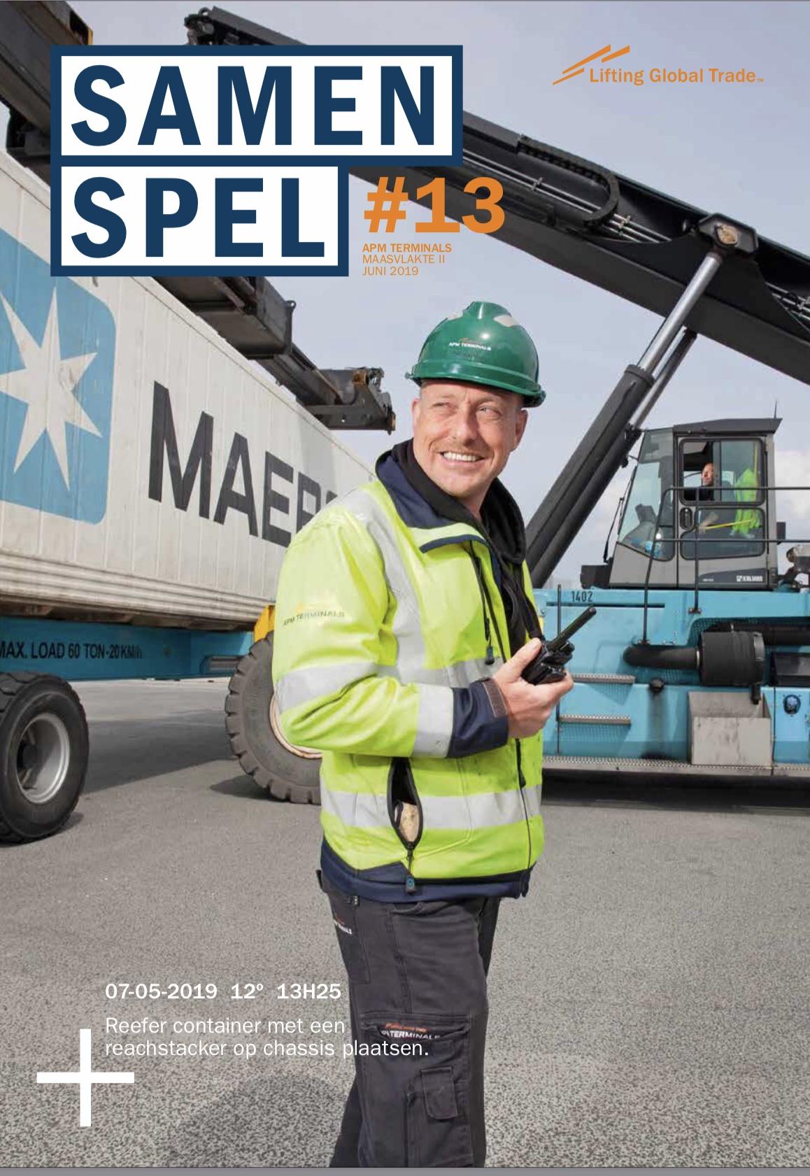 Samenspel 13, personeelsmagazine APM Terminals MVII